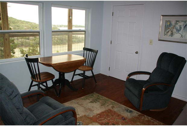 Living Room with view of Lake Buchanan