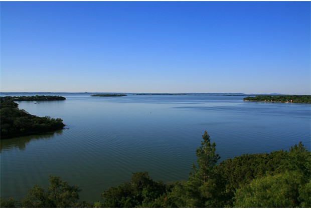 Lake Buchanan as seen from the deck of the Sky Loft